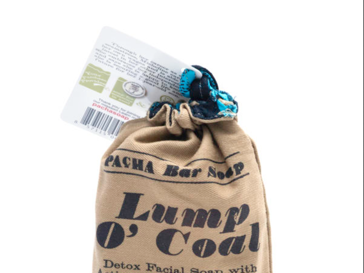 Whole Foods Lump O' Coal Soap Bag